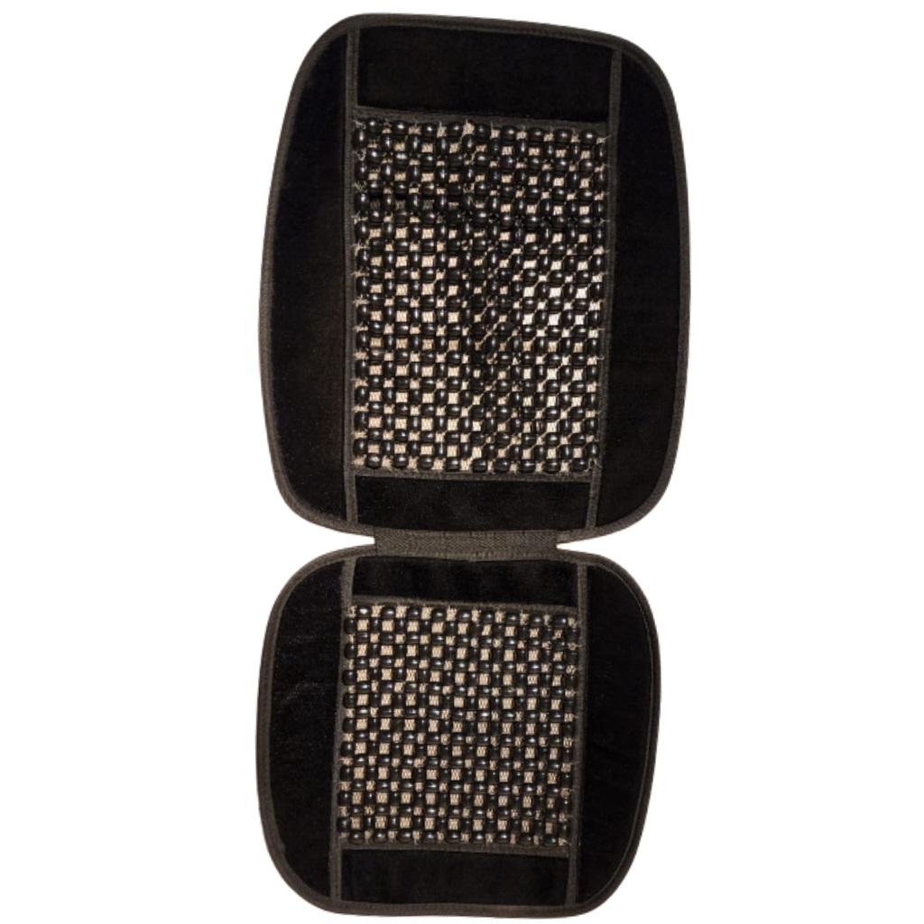 Cubre asiento bolita con borde pana negro