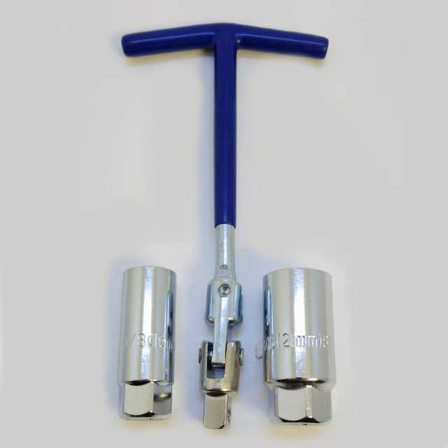 Kit llave saca bujia cardanica tubo combinada 16-21 mm
