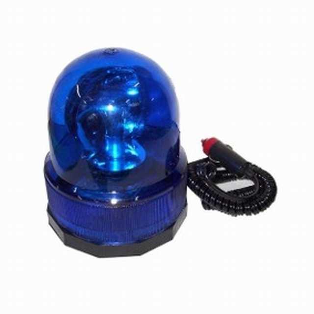 Baliza giratoria base imantada 12v azul