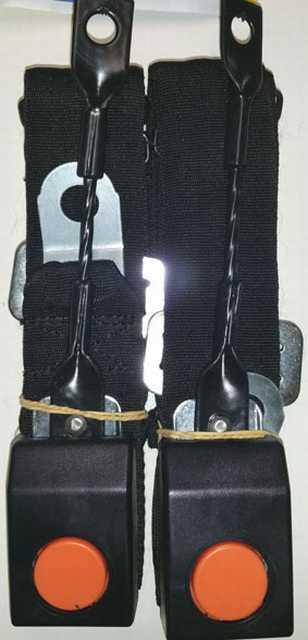Cinturon seguridad delantero con baston corto x jgo