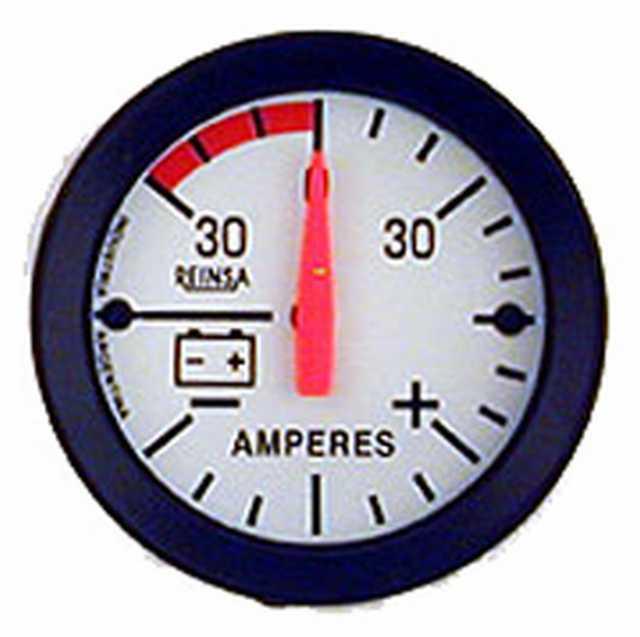 Amperimetro reinsa 30-0-30 52 mm blanco