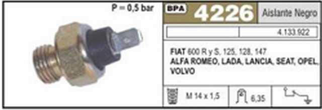 Bpa fiat 600 r y s-125-128-147-lada-alfa romeo