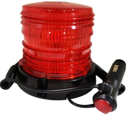 Baliza 48 smd 5050 flash dc10-30v rotativa roja