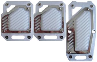 Pedalera deportiva tecno aluminio gris con antideslizante