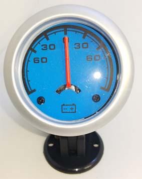 Amperimetro importado 52mm fondo azul