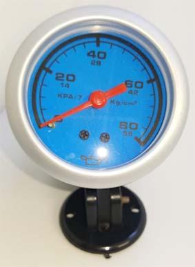 Manometro importado 52mm fondo azul